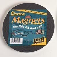 Darice 25 Foot, Adhesive Back Magnet Strip Roll - 1