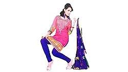 VIDHATA Women's Cotton & Crush Unstitched Dress Material (VIDHATA_69_Multicoloured_Free Size)