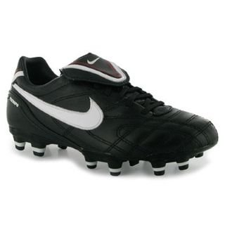 Nike Tiempo Mystic 3 FG Ladies Football Boots Black/White/Red 5 UK UK