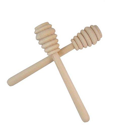 somay 2pièces manche long en bois Cuillère à miel bâton pour mélange pour Miel Pot