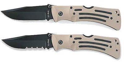 Ka Bar Kabar 02-3056 Limited Edition Military Survival Drop Point Folding Knife Heavy-Duty Desert Tan Mule Series