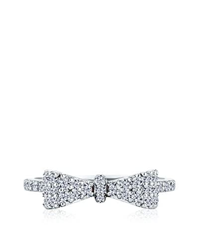 Diamond Style Bow Ring (Large) silberfarben