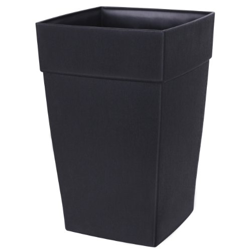 DCN Plastic 3508-36 Harmony Tall Planter, Black (Plant Pots Outdoor compare prices)