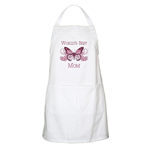 [Gueskie Kitchen Series Worlds Best Mom Butterfly Adult Apron] (Best Dance Moms Costumes)