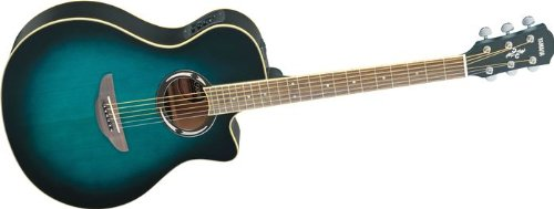 Yamaha APX500II Thinline Cutaway Acoustic-Electric Guitar Oriental Blue Burst