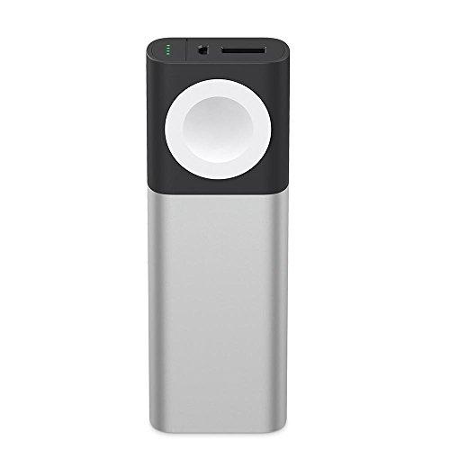 【国内正規代理店品】belkin ベルキン Apple Watch用磁気充電機内蔵 iPhone 同時充電可能 モバイルバッテリー Valet™ Charger Power Pack 6700 mAh F8J201BTSLV-A