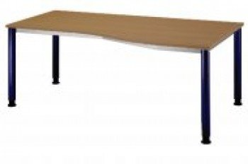 Hammerbacher scrivania HS18 Nussbaum/blau