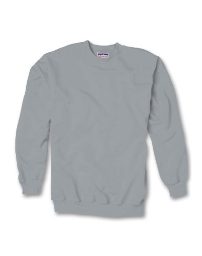 Hanes 90/10 Cotton/Polyester 10.2Oz. Ultimate Cotton - Crewneck, Medium-Light Steel front-380734