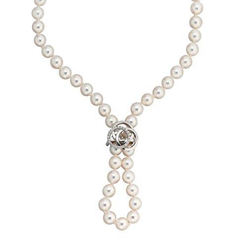 Goldschließe Verschluss Perlclip 585 Gold Weißgold Diamanten Brillanten Damen günstig kaufen