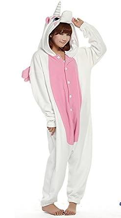 "Zicac Unisex Adult Children Kids Anime Cosplay Costumes Onesie Children and Adult Children Kids Pajamas Pyjamas Sleepwear Nightclothes Cosplay Gift For Hallowmas (Adult Height   180-186cm(70.9""-73.2""), Pink Unicorns)"