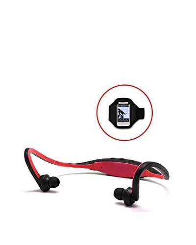Unotec Auricular Deportivo Bluetooth Con Brazalete Smartphone Rojo