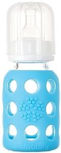 Lifefactory Glass Bottle w/ Sleeve - Sky - 4 oz