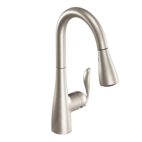 Moen 7594SRS Arbor One-Handle High Arc Pulldown Kitchen Faucet Featuring Reflex, Spot Resist Stainless (1 Handle Kitchen Faucet compare prices)