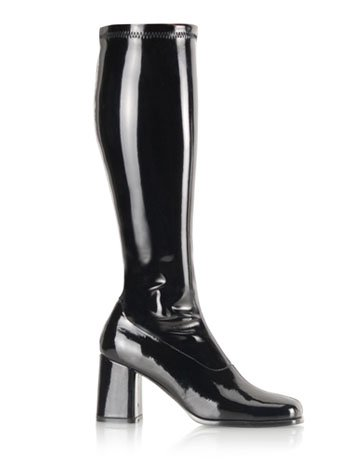 Sexy Retro Black 70s Costume Style Gogo Boot - 10