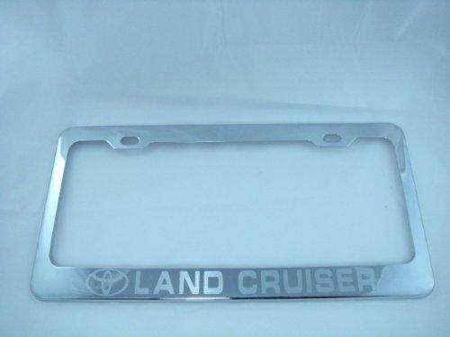 Corvette C5 Black and Chrome Plastic License Plate Frame