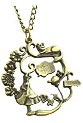 Alice and the Cheshire Cat Wonderland Pendant