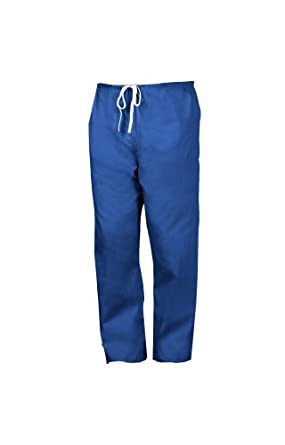 Worklon 895M Polyester/Cotton Unisex Scrub Pant with Drawcord Closure, Navy, Medium