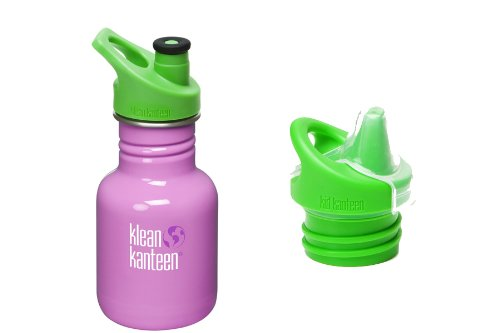 Klean Kanteen Kid'S Stainless Steel Bottle Set With 3.0 Sport Cap + 3.0 Sippy Cap - Cactus Flower (Pink) front-924827