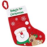 Koala Baby 'Baby's First Christmas' Stocking - Red (Dated 2010)