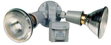 Heath Zenith SL-5408-GR 110-Degree Motion-Sensing Flood Security Light, Gray