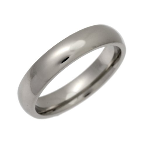Palladium Wedding Ring, Heavy Weight Court Shape, 4mm Band Width