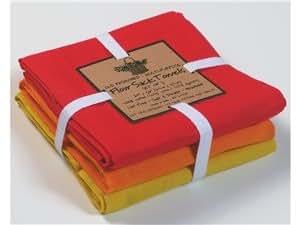 Kay Dee Designs 3-pc Flour Sack Towel Set, 26-inch X 26-inch, Sunny