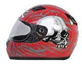 Daytona Helmets Shadow Red Skulls Full Face Helmet