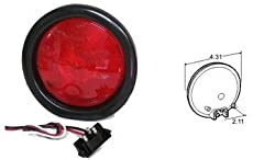 Truck-Lite 40002R Red Model 40 Stop/Turn/Tail & Front/Park/Turn 4'' Sealed