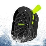 Jabees BeatBOX Mini Waterproof Portable Bluetooth Wireless Speaker with In-Built Mic and LineIn(Black-Green)