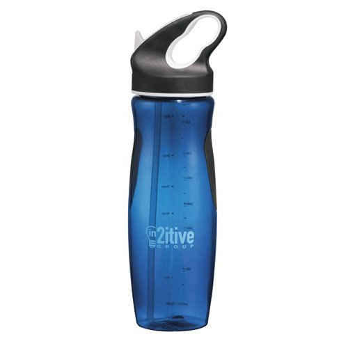 Plastic Water Bottle With Straw front-1075219