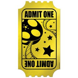 Foil Golden Ticket Party Accessory (1 count) - 1