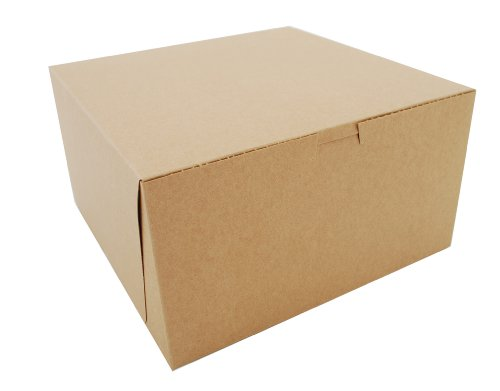Southern Champion Tray 0977K Kraft Paperboard Non Window Lock Corner Bakery Box, 10