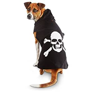 Petco wag a tude black skull dog hoodie for Does petco sell fish