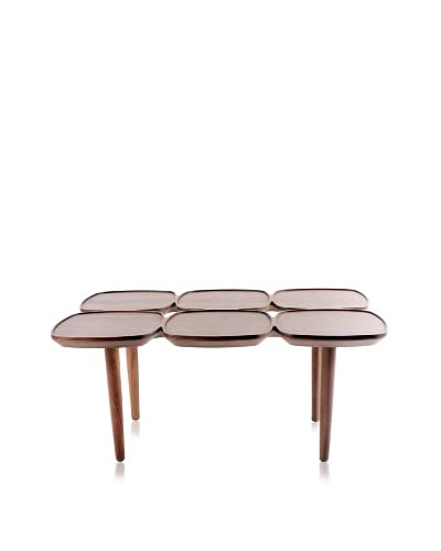 Control Brand Petal Coffee Table, Walnut