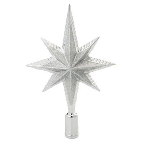 グリッタースターツリートップSI 【クリスマスツリー装飾】W13cm×H20cm