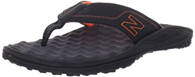 New Balance Mens Summit Thong,Black/Orange,8 D