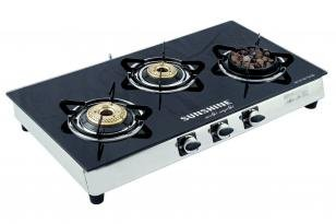Sunshine GT 3 LBB Gas Cooktop (3 Burner)