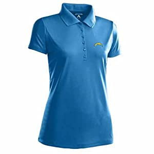 San Diego Chargers Ladies Pique Xtra Lite Polo Shirt (Alternate Color) by Antigua
