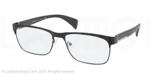 pradaPrada PR61PV Eyeglasses-FAD/1O1 Matte Black/Black-55mm