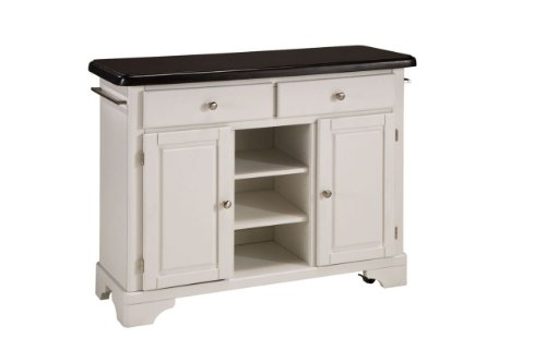 Cheap Kitchen Cart with Black Granite Top in White Finish (VF_HY-9300-1024)