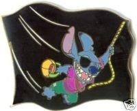 Stitch in Pirate Costume Pin