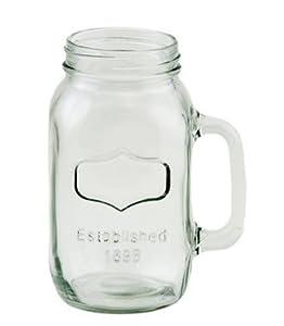 38oz quart size mason jar mug with embossed framed area set of 2 cups mugs. Black Bedroom Furniture Sets. Home Design Ideas