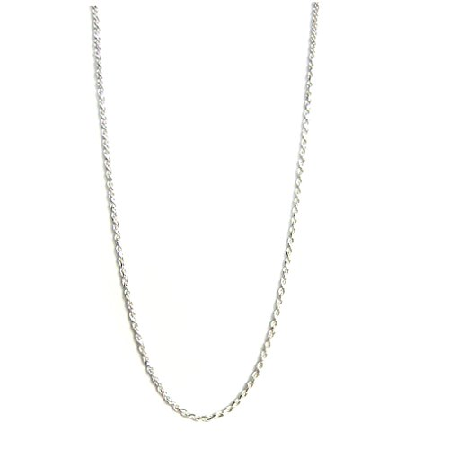 Sterling Silver 1.5mm Diamond-Cut Rope Nickel Free Chain Necklace Italy, 18""