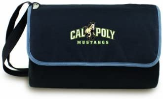 NCAA Cal Poly San Luis Obispo Mustangs Outdoor Picnic Blanket Tote Black SizeFolded 13quot X 8quot X