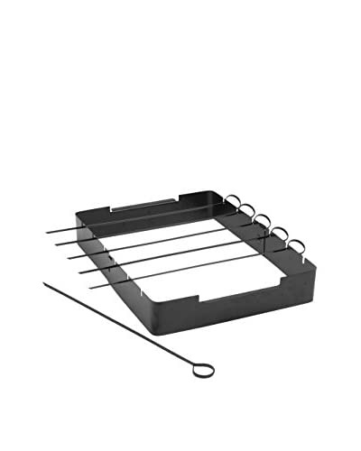 Charcoal Companion Set of 6 Non-Stick Skewers & Kabob Rack