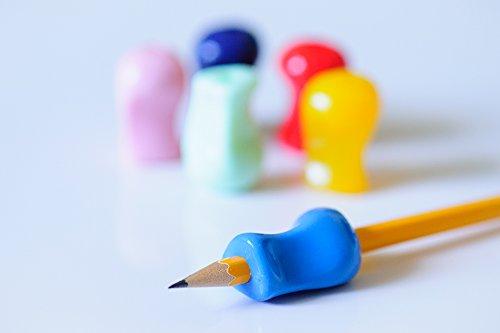 Impugnature per matita - Set da 6 colori assortiti - Supporto ergonomico di scrittura per destri e mancini - per una scrittura a mano ottimale e massimo controllo mentre si colora. Ottimo strumento di terapia occupazionale