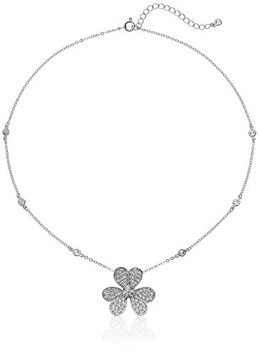 CZ by Kenneth Jay Lane Silver-Tone and Cubic Zirconia Station Necklace