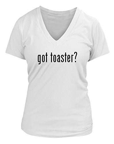 got toaster? Juniors Cut Women's V-neck T-Shirt - Various sizes & colors!, White, XX-Large (Toaster Cut compare prices)