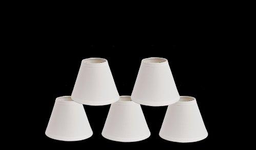 "Urbanest Satin Hardback Chandelier Mini Lamp Shades,3/""x 6/""x 5/"" Gold,Set of 6"