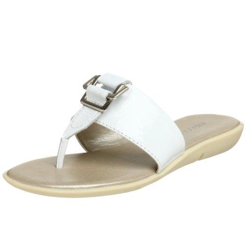 Aerosoles Women's Savvy Thong,White Patent,6 M